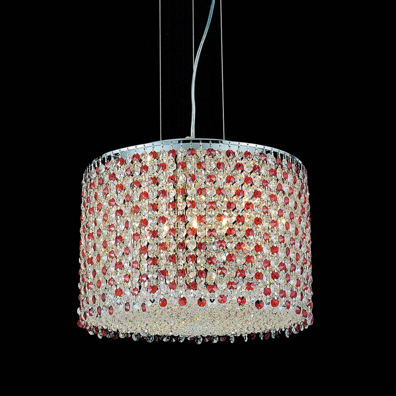 "Red Rectangular Chandelier: Brizzo Lighting Stores. 16"" Rainbow Modern Round Crystal"