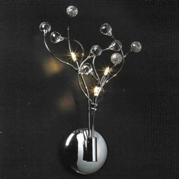 "Picture of 16"" Sfera Modern Crystal Wall Sconce Polished Chrome  / Brushed Nickel 3 Lights"