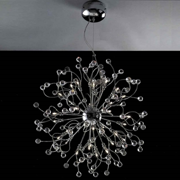 "Picture of 30"" Sfera Modern Crystal Round Chandelier Polished Chrome 32 Lights"