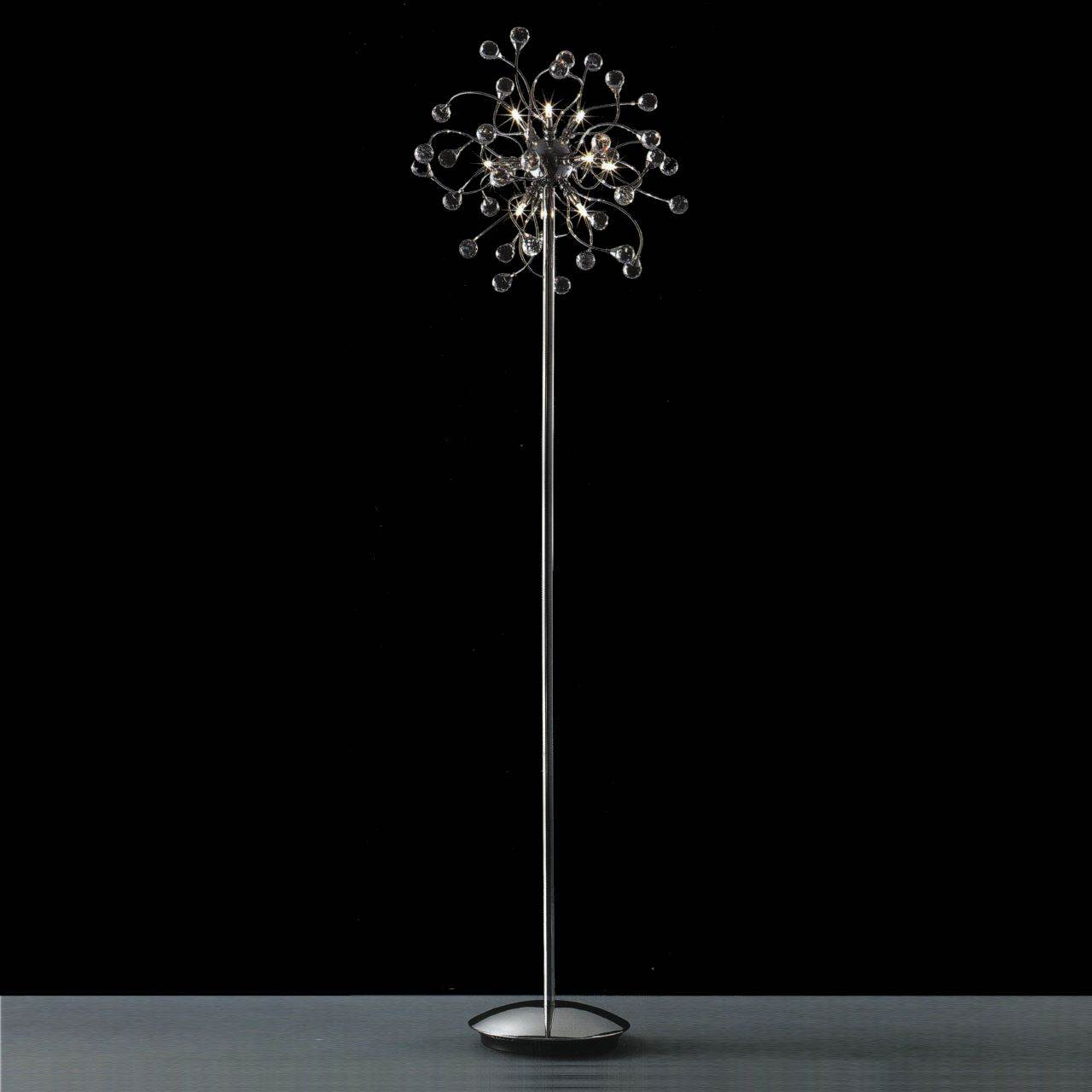 Modern crystal floor lamp - Picture Of 64 Sfera Modern Crystal Floor Lamp Polished Chrome 12 Lights