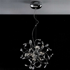 "Picture of 18"" Tempesta Modern Crystal Round Chandelier Polished Chrome 12 Lights"