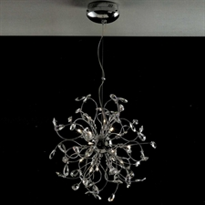 "Picture of 22"" Tempesta Modern Crystal Round Chandelier Polished Chrome 18 Lights"
