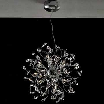 "Picture of 24"" Tempesta Modern Crystal Round Chandelier Polished Chrome 24 Lights"
