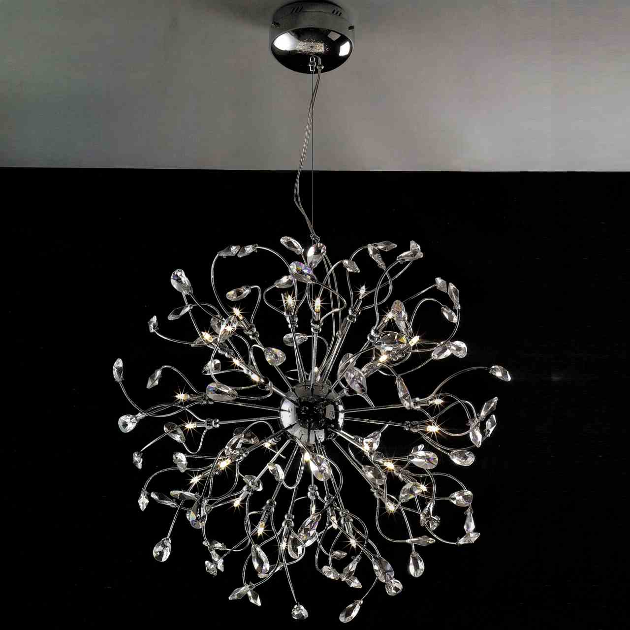 Brizzo lighting stores 30 tempesta modern crystal round for Modern lighting fixtures chandeliers