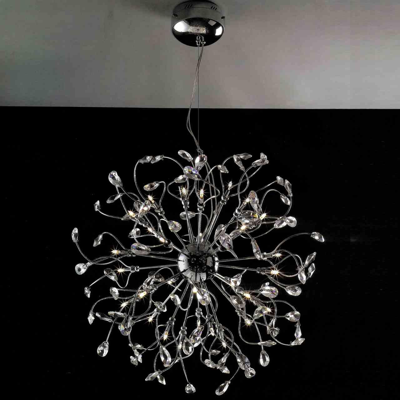 Brizzo Lighting Stores 30 Tempesta Modern Crystal Round