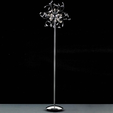 "Picture of 64"" Tempesta Modern Crystal Floor Lamp Polished Chrome 12 Lights"
