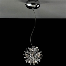 "Picture of 11"" Radiante Modern Crystal Round Pendant Polished Chrome 12 Lights"
