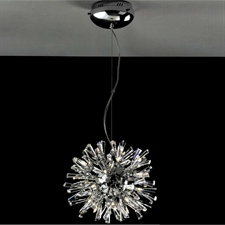 "Picture of 14"" Radiante Modern Crystal Round Pendant Polished Chrome 24 Lights"