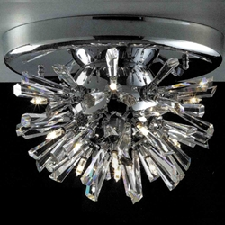 "Picture of 10"" Radiante Modern Crystal Flush Mount Round Chandelier Polished Chrome 12 Lights"