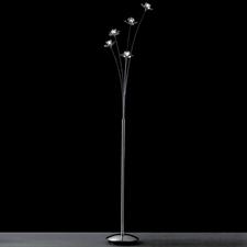 "Picture of 65"" Petali Modern Crystal Floor Lamp Polished Chrome 5 Lights"