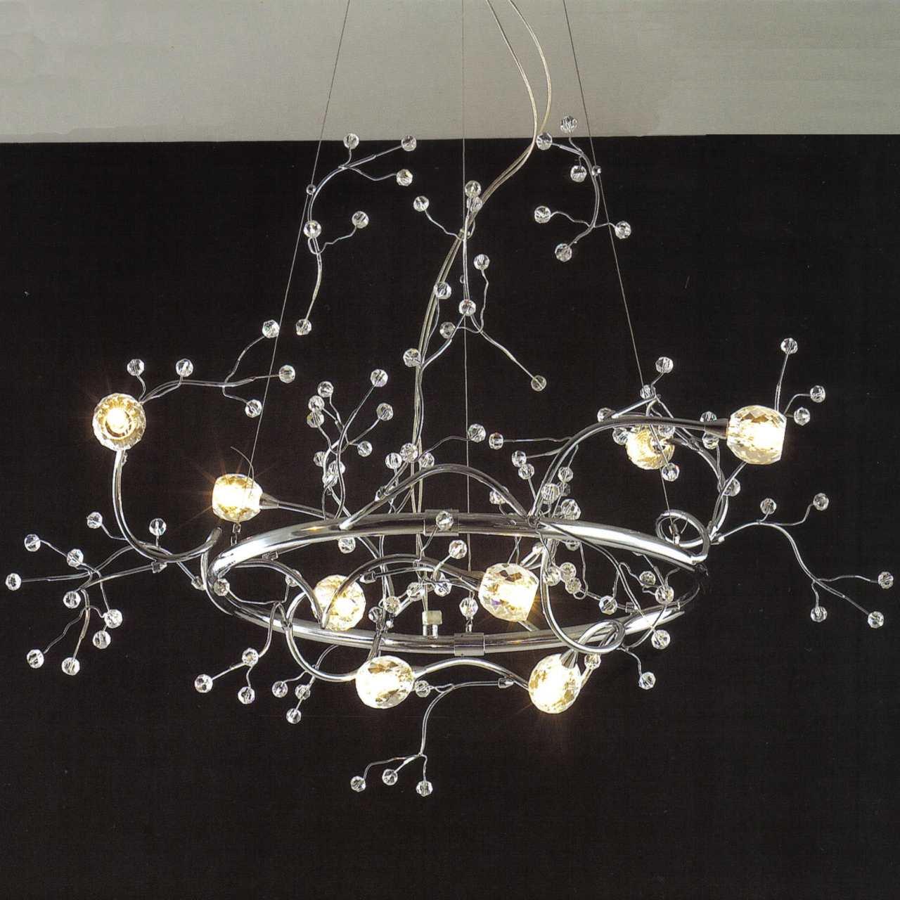 "Brizzo Lighting Stores 32"" Albero Modern Crystal Round"