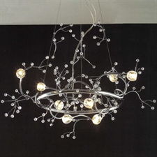 "Picture of 32"" Albero Modern Crystal Round Branch Chandelier Polished Chrome 8 Lights"