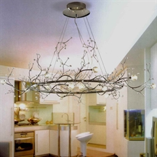 """Picture of 40"""" Albero Modern Crystal Branch Oval Chandelier Polished Chrome 8 Lights"""