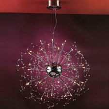 "Picture of 28"" Galassia Modern Crystal Round Chandelier Polished Chrome 30 Lights"