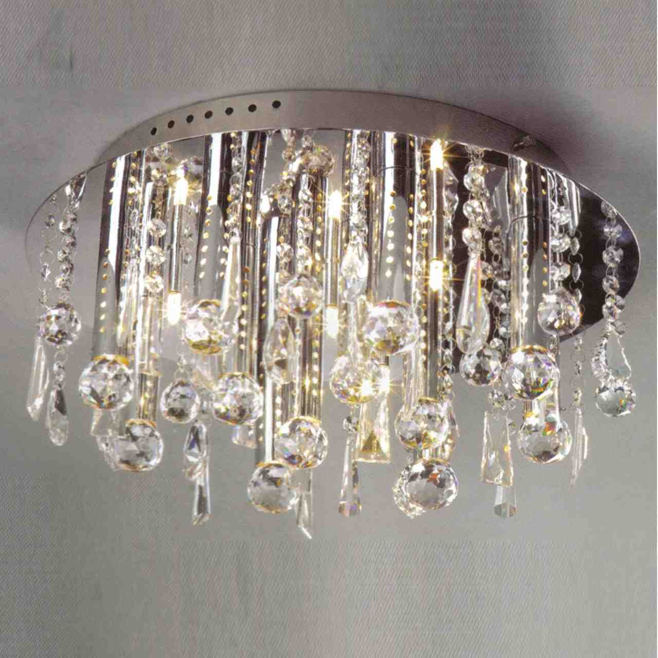 Brizzo lighting stores 14 miraggio modern crystal flush mount picture of 14 miraggio modern crystal flush mount round chandelier polished chrome 12 lights aloadofball Image collections