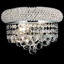 Picture of Empire Crystal Wall Sconce Chrome / Gold 2 Lights