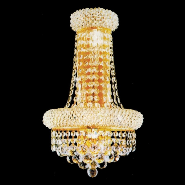 Picture of Empire Crystal Wall Sconce Chrome / Gold 4 Lights