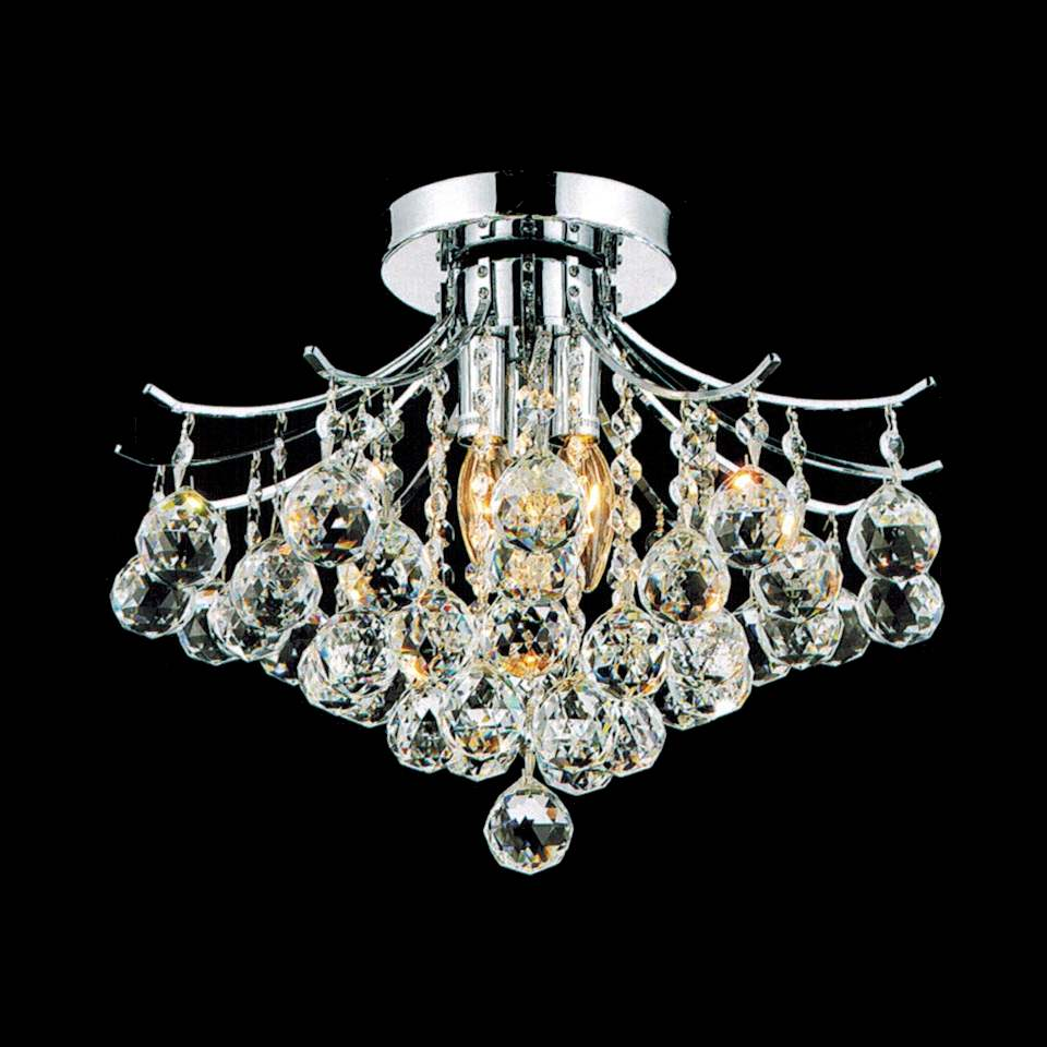 """Brizzo Lighting Stores 16"""" Monarch Crystal Flush Mount"""