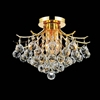 "Picture of 16"" Monarch Crystal Flush Mount Round Chandelier Chrome / Gold 4 Lights"