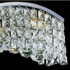 "Picture of 36"" Gesto Modern Rectangular Wave Wall Sconce Vanity Light Polished Chrome Clear / Smoky / Champagne Crystal 8 Lights"