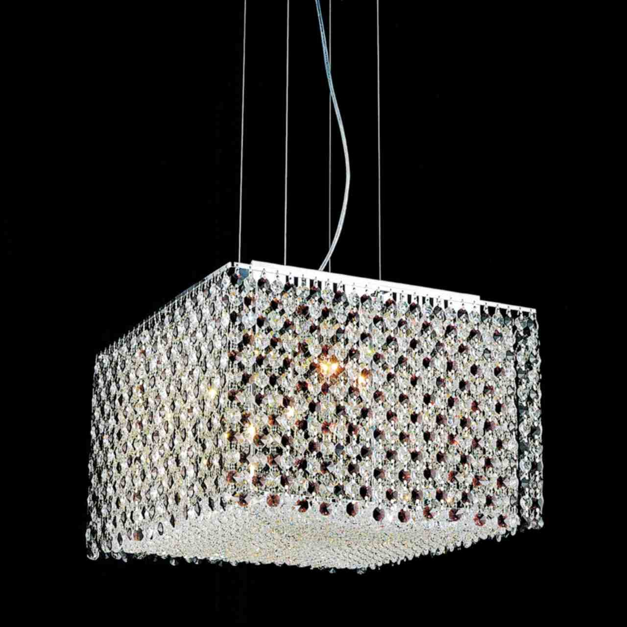 Brizzo Lighting Stores 16 Quot Rainbow Modern Square Crystal