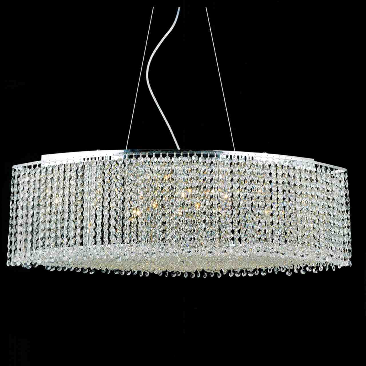 Brizzo Lighting Stores 35 Quot Rainbow Modern Linear Crystal