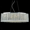 """Picture of 35"""" Rainbow Modern Linear Crystal Chandelier, Polished Chrome, 15 Lights, Clear or Purple Crystal"""