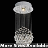 Picture of Sphere Modern Crystal Chandelier Small Mirror Stainless Steel Base 1 Light