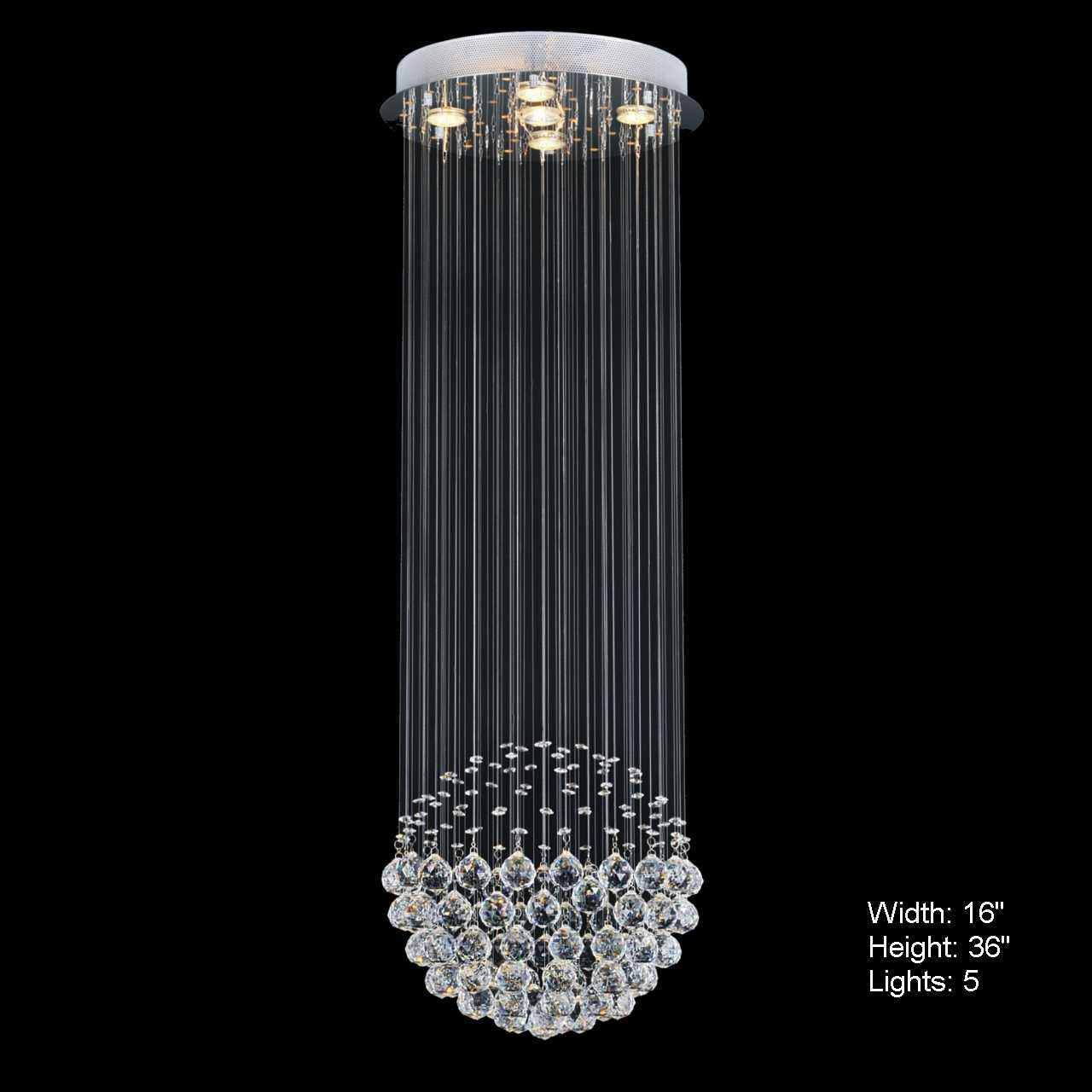 Brizzo lighting stores sphere modern crystal chandelier small mirror stainless steel base 1 light - Images of chandeliers ...
