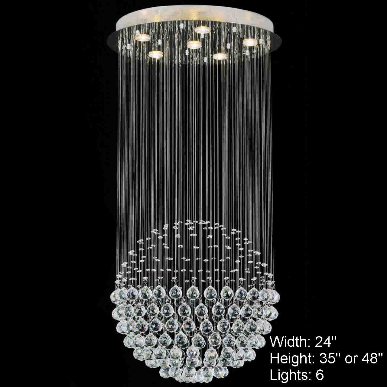 Brizzo lighting stores sphere modern crystal chandelier for Modern lighting fixtures chandeliers