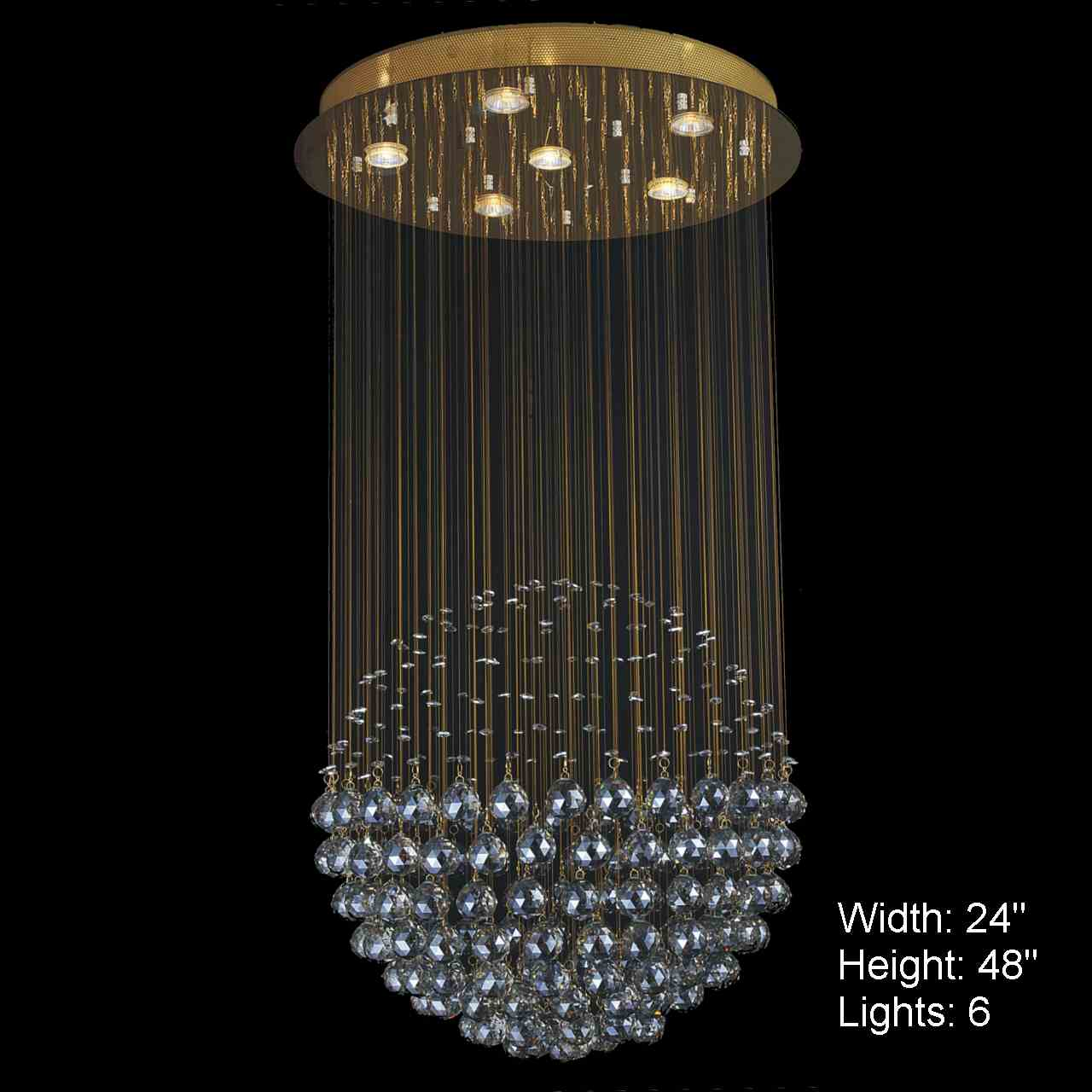 Brizzo lighting stores sphere modern crystal chandelier for Large modern chandelier lighting