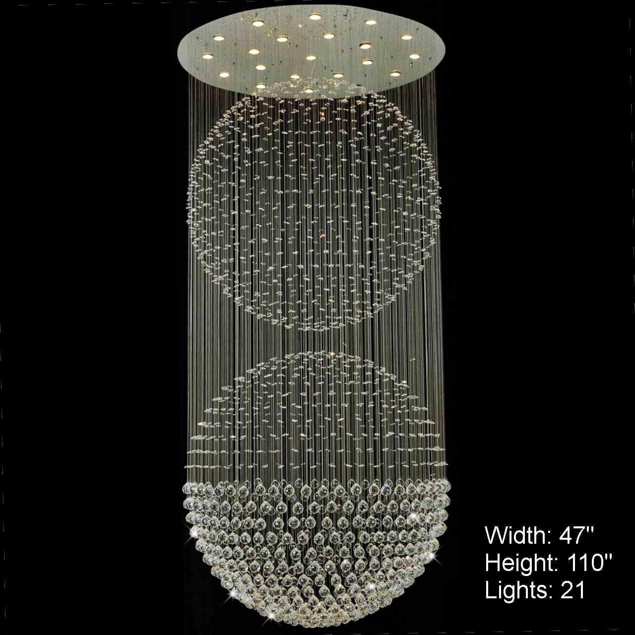 Modern Foyer Crystal Chandelier : Brizzo lighting stores double sphere modern foyer crystal