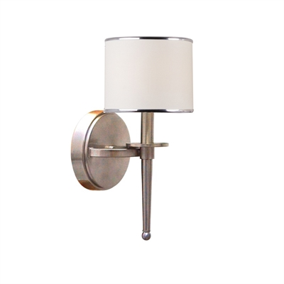 Brushed Nickel Wall Sconce With Fabric Shade : Brizzo Lighting Stores. 18