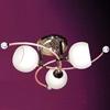 "Picture of 18"" Vibrante Modern Round Kids Semi-Flush Mount White / Pink Glass 3 Lights"