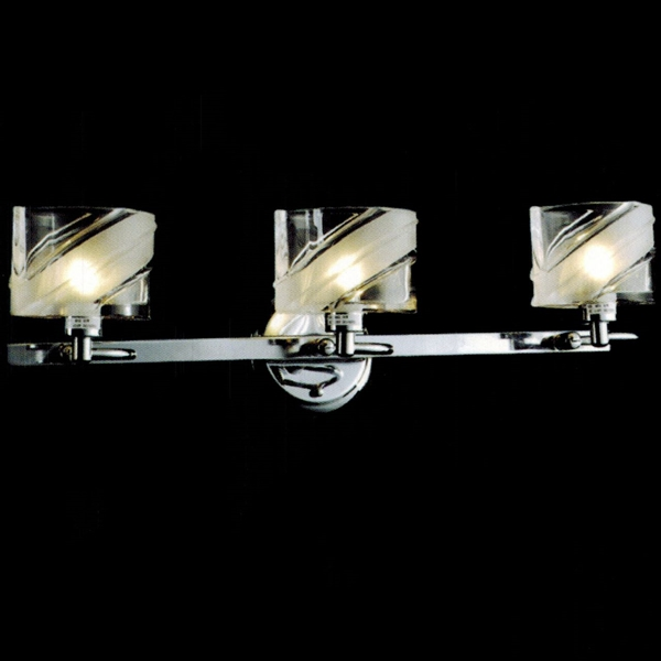 Brizzo Lighting Stores 22 Blocchi Modern Rectangular Vanity Light Chro