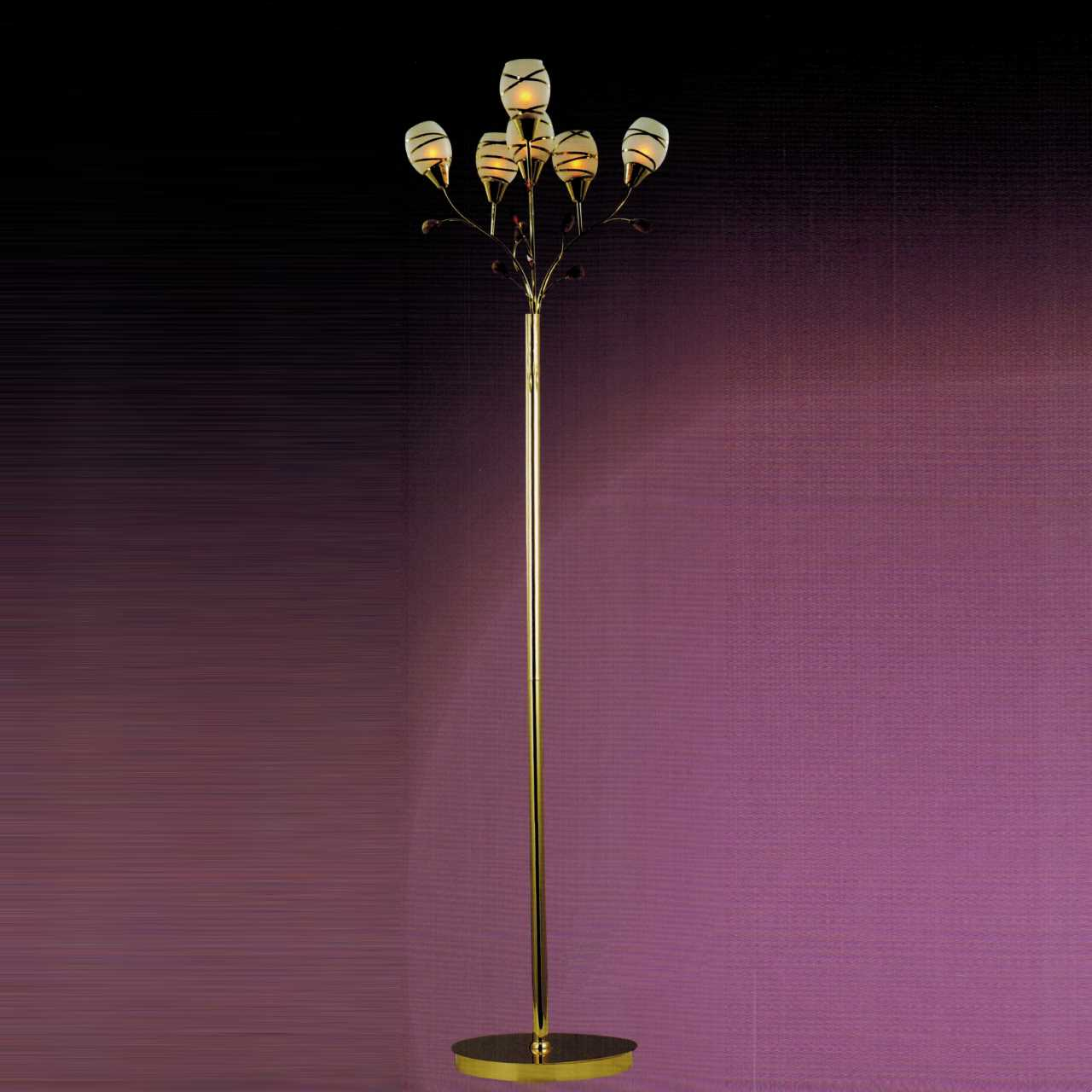 Brizzo Lighting Stores Two Due Linee Transitional Round Frosted Glass Floor Lamp With Clear