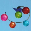 """Picture of 22"""" Ciclo Modern Kids / Office Glass Flush Mount Ceiling Lamp Chrome Finish White / Red / Green / Blue / Orange Color 5 Lights"""