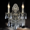 "Picture of 16"" Ottone Traditional Crystal Candle Wall Sconce Antique Brass Finish 2 Light"