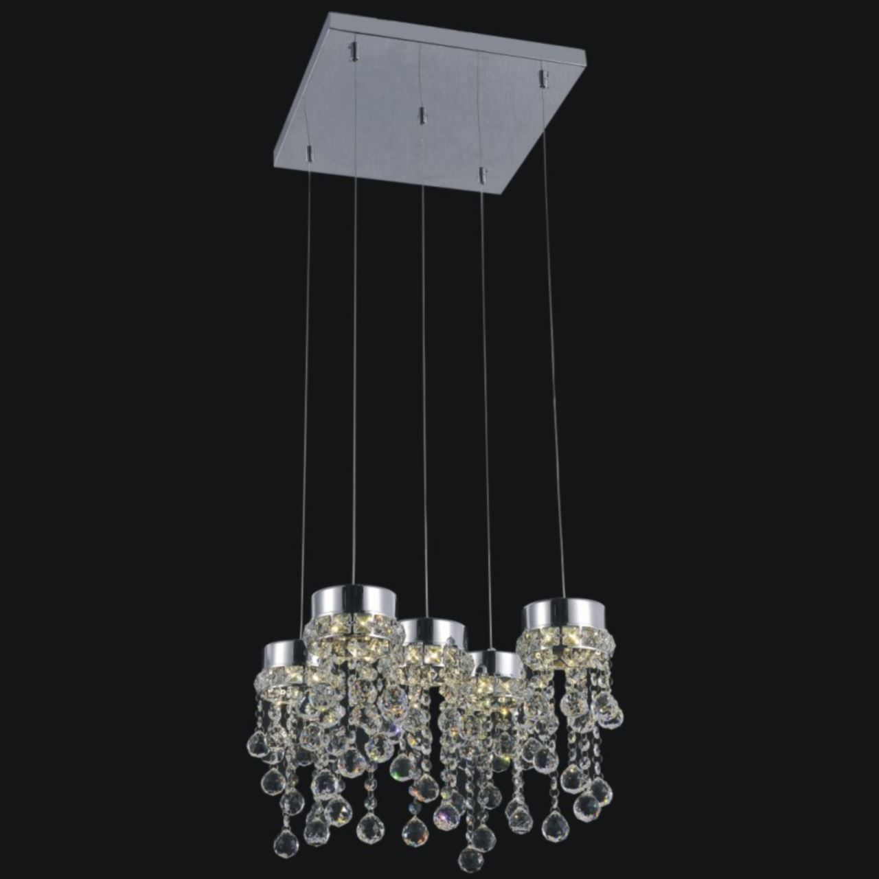 lighting stores 14 escalera modern crystal mini pendants on square