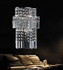 """Picture of 13"""" Bossolo Transitional Crystal Rectangular Square Wall Sconce Polished Chrome 4-Lights"""