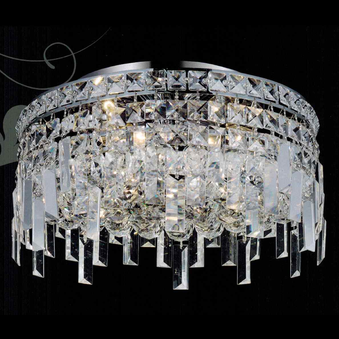 """Brizzo Lighting Stores 16"""" Bossolo Transitional Crystal"""