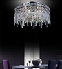 """Picture of 16"""" Bossolo Transitional Crystal Round Flush Mount Chandelier Polished Chrome 5-Lights"""