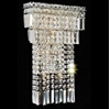 """Picture of 19"""" Bossolo Transitional Crystal Rectangular Square Wall Sconce Polished Chrome 5 Lights"""