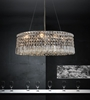 """Picture of 21"""" Bossolo Transitional Crystal Oval Pendant Chandelier Polished Chrome 6 Lights"""