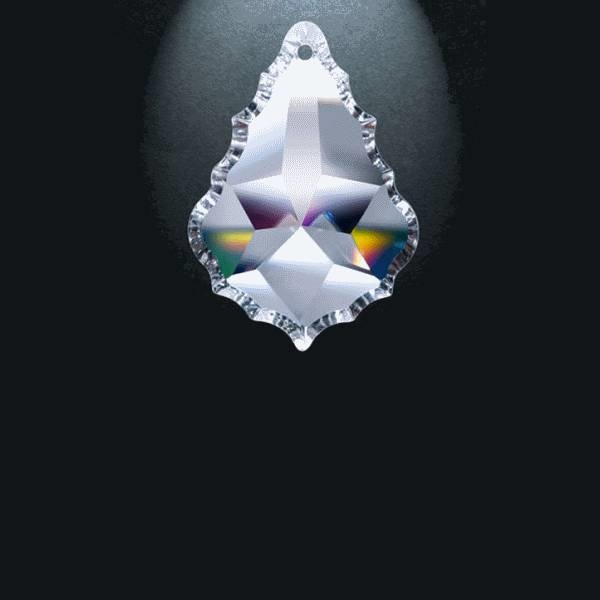 """Picture of 2.5"""" Asfour Crystal Pendalogue 30% PbO 911-2.5"""