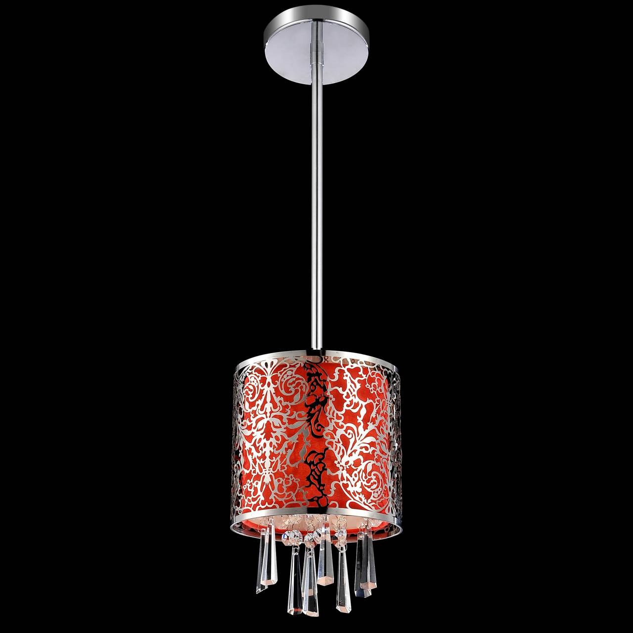 Crystal Pendant Lighting Fabric Shade Rectangle : Brizzo lighting stores quot drago modern crystal round mini