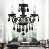 """Picture of 14"""" Victorian Traditional Crystal Round Mini Chandelier Jet Black Tear Drops Crystals 3 Lights"""