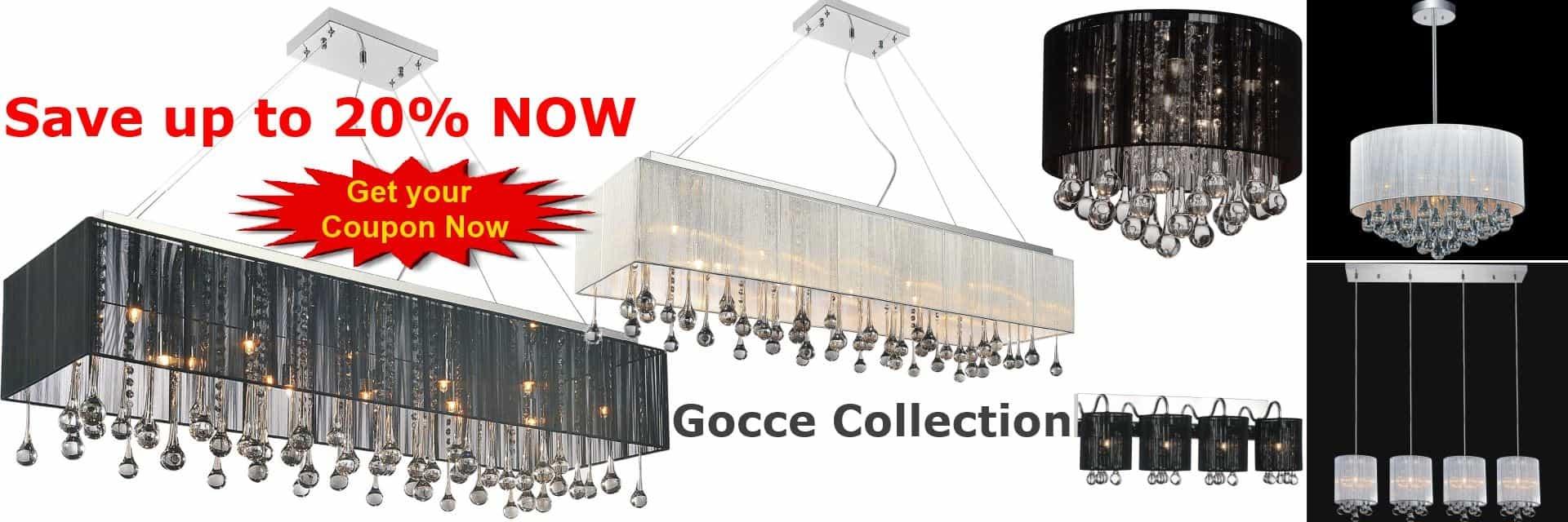 Gocce Collection - Lighting Fixtures, Pendants, Wall Sconces, Vanity Lights